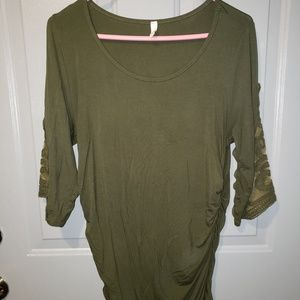 Olive Green Maternity Shirt